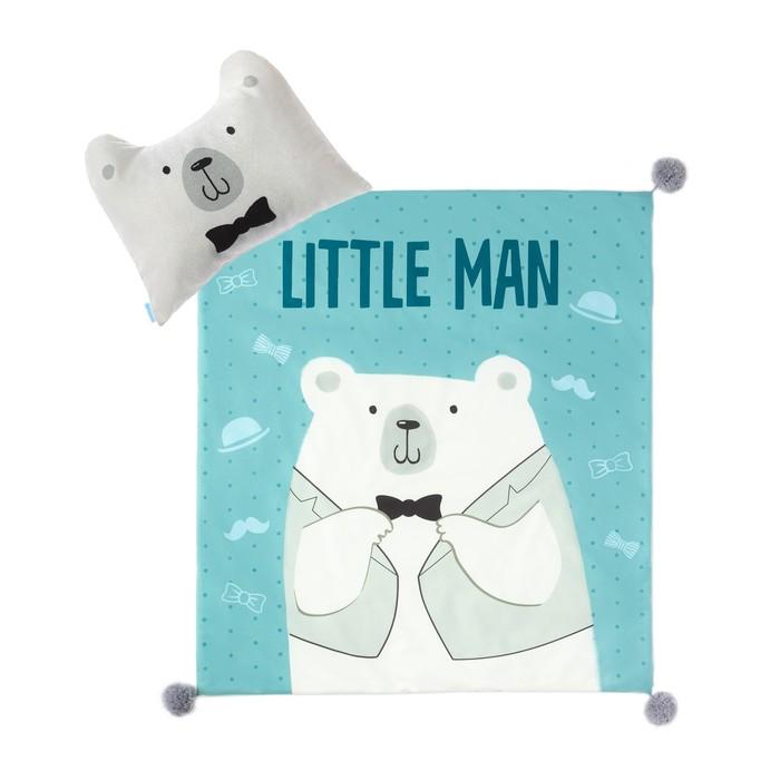"""Набор """"Крошка Я"""" Little man плед 90х100 см, подушка 45х36 см"""