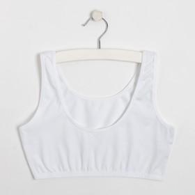 Топ для девочки, цвет белый, рост 134-140 см