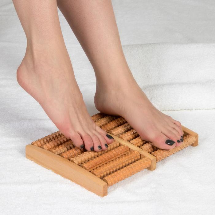 """Массажёр деревянный для ног """"Барабаны"""", 8 рядов"""