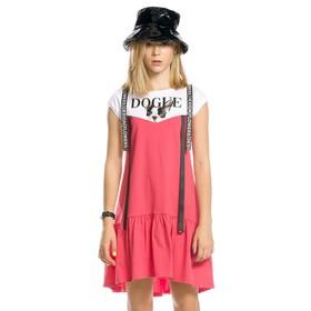 Платье для девочки, рост 146 см, цвет красный