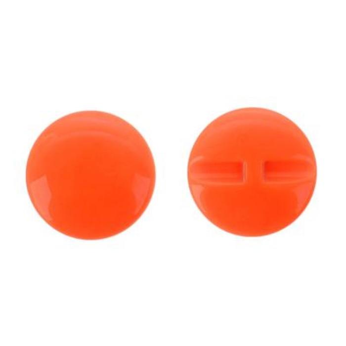 Пуговица большая гладкая, диаметр 37 мм, набор 50 шт., цвет оранжевый