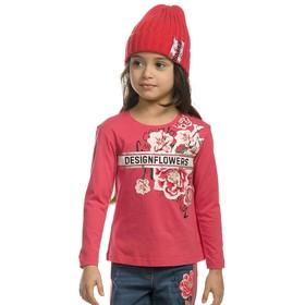 Джемпер для девочек, рост 104 см, цвет красный