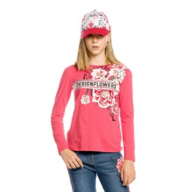 Джемпер для девочек, рост 116 см, цвет красный