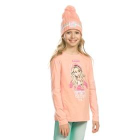 Джемпер для девочек, рост 122 см, цвет персиковый