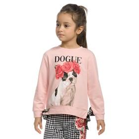 Толстовка для девочек, рост 104 см, цвет розовый