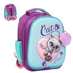 Рюкзак каркасный, Luris «Джерри 4», 38 х 28 х 18 см, 3D-рисунок, «Котёнок»