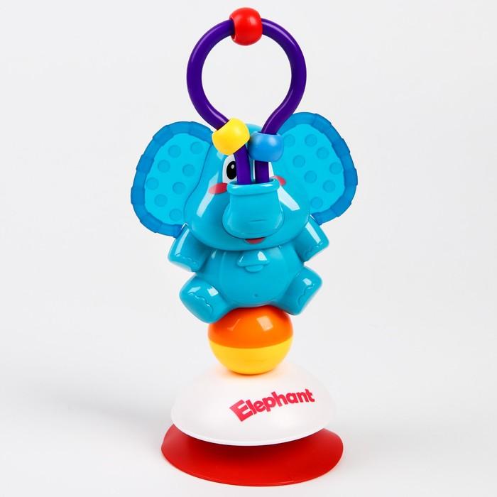 Развивающая игрушка «Слоник», на  присоске - фото 76138672