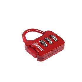 Замок навесной кодовый TUNDRA ZK001, красный