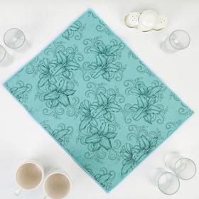 {{photo.Alt || photo.Description || 'Салфетка для сушки посуды Доляна «Орхидеи», 38×50 см, микрофибра, цвет голубой'}}