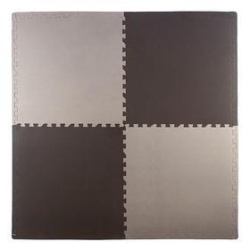Мягкий пол универсальный 60 × 60, чёрно-серый