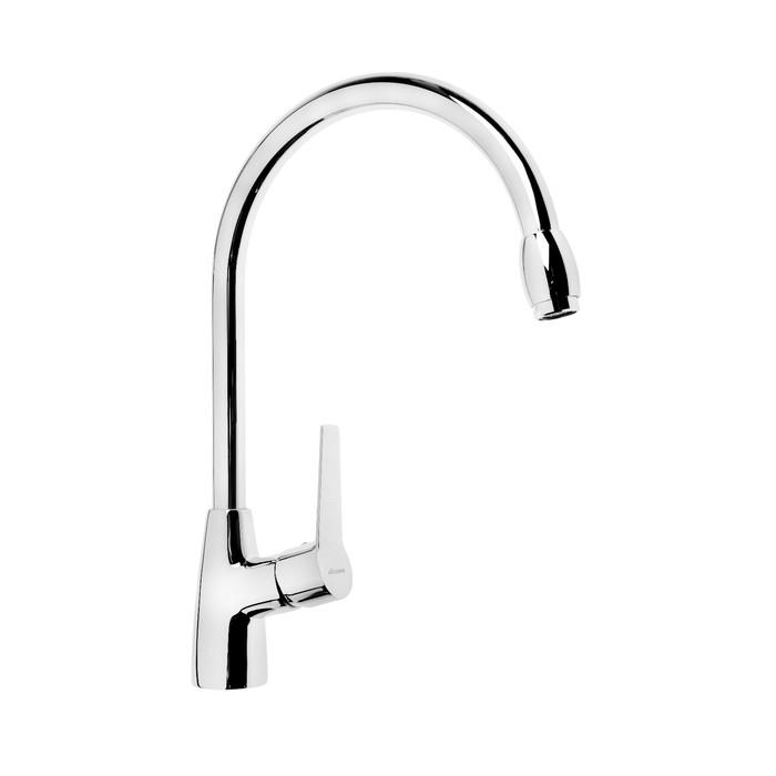 Cмеситель для кухни Accoona A55300, однорычажный, высокий излив, латунь, хром - фото 4460380