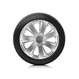 Колпаки колесные Autoprofi R14, PP пластик, регулировочный обод, металлик, 350 мм, 4 шт