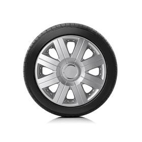 Колпаки колесные Autoprofi R15, PP пластик, регулировочный обод, металлик, 370 мм, 4 шт