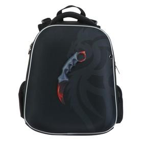 Рюкзак каркасный Hatber Ergonomic Classic 37 х 29 х 17, для мальчика Karambit, чёрный