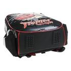 Рюкзак каркасный Hatber Ergonomic light 38 х 29 х 11, для мальчика Fighter, чёрный - фото 742144
