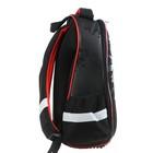 Рюкзак каркасный Hatber Ergonomic light 38 х 29 х 11, для мальчика Fighter, чёрный - фото 742145