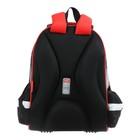 Рюкзак каркасный Hatber Ergonomic light 38 х 29 х 11, для мальчика Fighter, чёрный - фото 742148