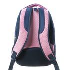 """Рюкзак школьный Hatber Sreet 42 х 30 х 20, для девочки """"Мяу"""", синий/розовый - фото 742293"""