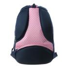 """Рюкзак школьный Hatber Sreet 42 х 30 х 20, для девочки """"Мяу"""", синий/розовый - фото 742294"""