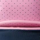 """Рюкзак школьный Hatber Sreet 42 х 30 х 20, для девочки """"Мяу"""", синий/розовый - фото 742295"""