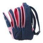 """Рюкзак школьный Hatber Sreet 42 х 30 х 20, для девочки """"Мяу"""", синий/розовый - фото 742288"""