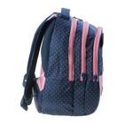 """Рюкзак школьный Hatber Sreet 42 х 30 х 20, для девочки """"Мяу"""", синий/розовый - фото 742290"""