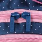 """Рюкзак школьный Hatber Sreet 42 х 30 х 20, для девочки """"Мяу"""", синий/розовый - фото 742292"""