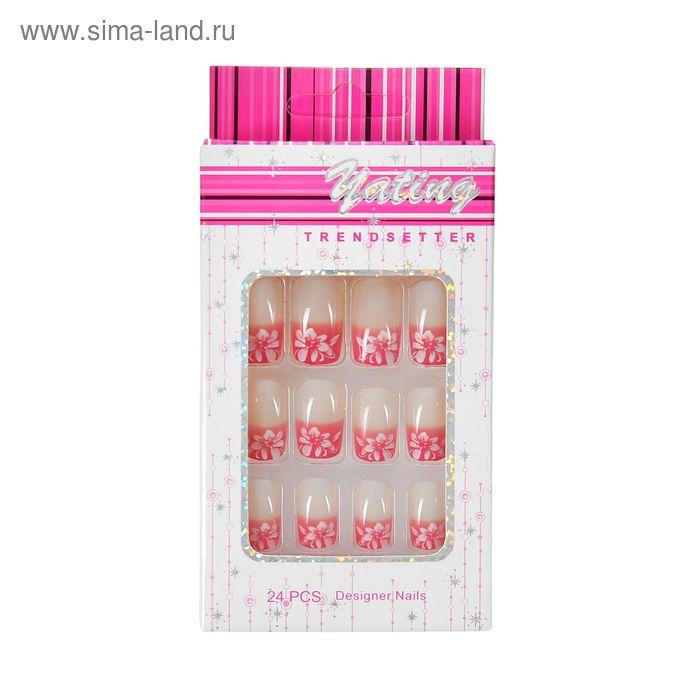 """Ногти накладные """"Лепестки"""" с клеем, 24 шт"""
