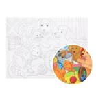 Картина по номерам на холсте, 30 × 40 см «Игривые котята и щенки»