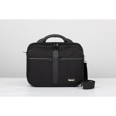 Bag husband 3235, 35*7*27, otd 2 zip, 3 n/pockets, long strap, black