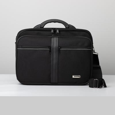 Bag husband 3237, 39*15*28, otd 2 zip, 3 n/pockets, long strap, black