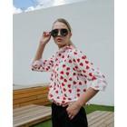 Рубашка женская MINAKU: Love, цвет белый, р-р 46