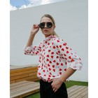 Рубашка женская MINAKU: Love, цвет белый, р-р 54