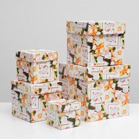 "Набор коробок 5 в 1 ""Свадьба 4"", 22,5 х 22,5 х 22,5 - 9,5 х 9,5 х 9,5 см"