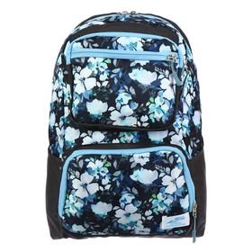 Рюкзак молодёжный, Luris «Рамон», 41 х 28 х 19 см, эргономичная спинка, «Цветы»