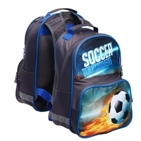 Рюкзак школьный, Luris «Тимошка», 37 х 26 х 13 см, эргономичная спинка, «Футбол»