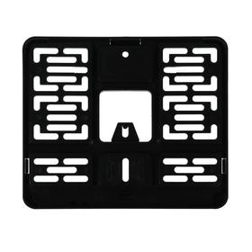 Frame under a license plate for motorcycle / moped / quad bike, 190 * 145 mm, black, AFC-14, GOST R 50577-2018.