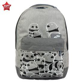Рюкзак молодёжный Luris «Эра», 38 x 28 x 19 см, эргономичная спинка, «Панды»