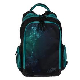 Рюкзак школьный, Luris «Тайлер», 40 х 29 х 17 см, эргономичная спинка, «Техно», чёрный