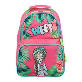 Рюкзак школьный, Luris «Тимошка», 37 х 26 х 13 см, эргономичная спинка, «Девочка», розовый