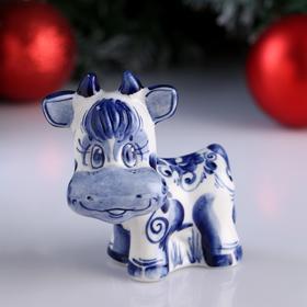 "Souvenir ""Bull Martin "", 10 cm, Gzhel"