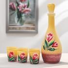 Набор питьевой «Тюльпан», 7 предметов: графин 500 мл графский, 6 стопок 50 мл, оникс
