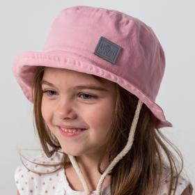 Панамка для девочки, цвет пудра, размер 48-50