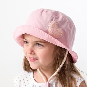 Панамка для девочки, цвет пудра, размер 50-52