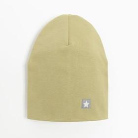 Шапка для мальчика, цвет оливковый, размер 46-50