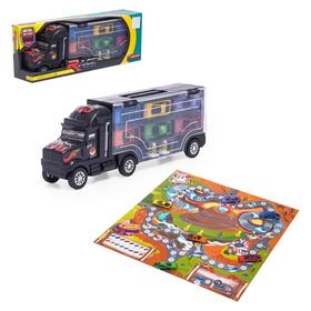 Гараж детский «Грузовик. Перевозчик», с 6 металлическими машинами и аксессуарами
