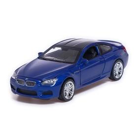 Машина металлическая BMW M6, открываются двери, капот, багажник, инерция, цвет синий