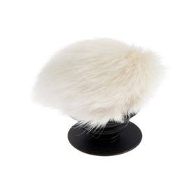 Pipsocket Popsockets PS10, fur, holder for phone on your finger, beige