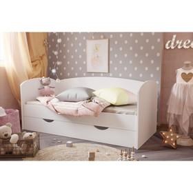 Кровать «Бейли», 700 × 1600 мм, с ортопедическим основанием, цвет белый