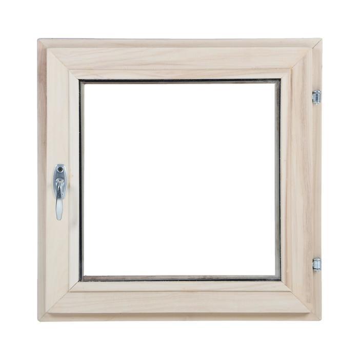 Окно, 50×50см, однокамерный стеклопакет, из липы